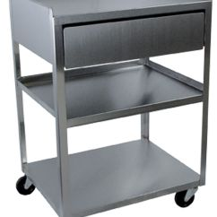 Stainless Steel Kitchen Cart With Drawers Booth Buy Rolling 3 Shelf Drawer