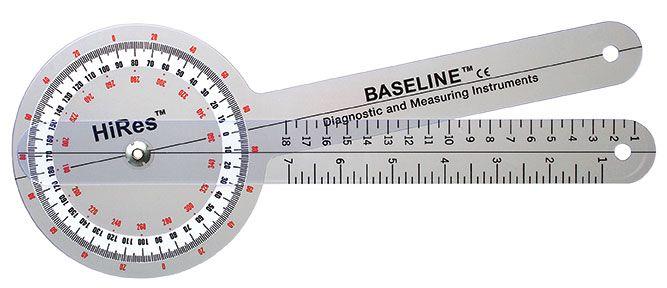 "Buy Baseline Hi-Res Plastic 12"" Goniometer 360 Degree"