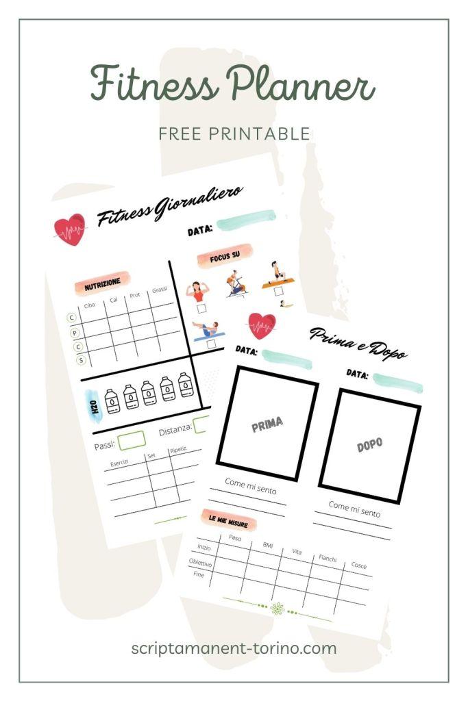 fitness planner free printable