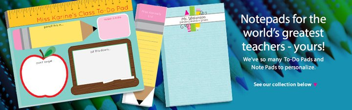 personalized teachers notepads