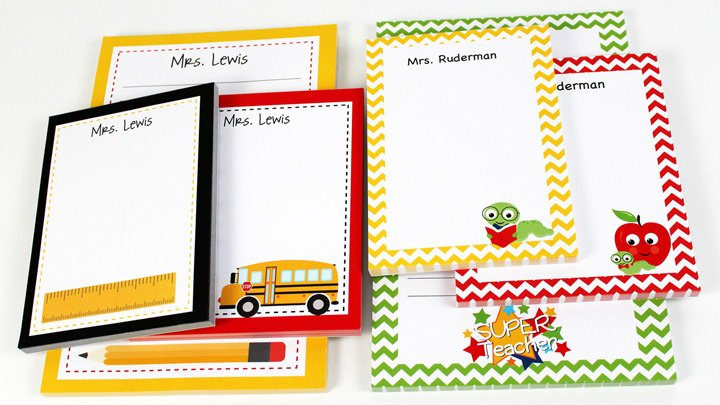 personalized teacher notepads