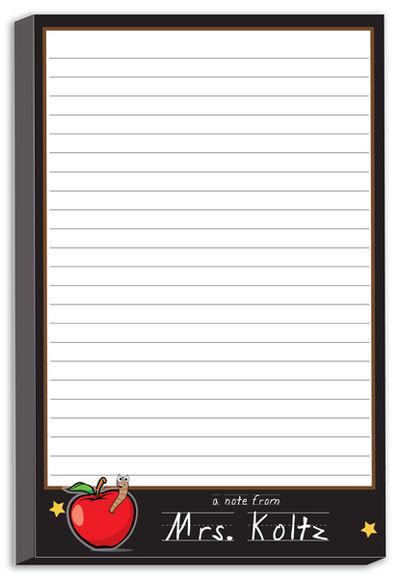 apple for teacher notepad