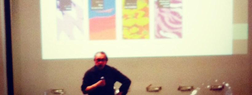 Franck de Crescenzo présentant sa maison d'édition