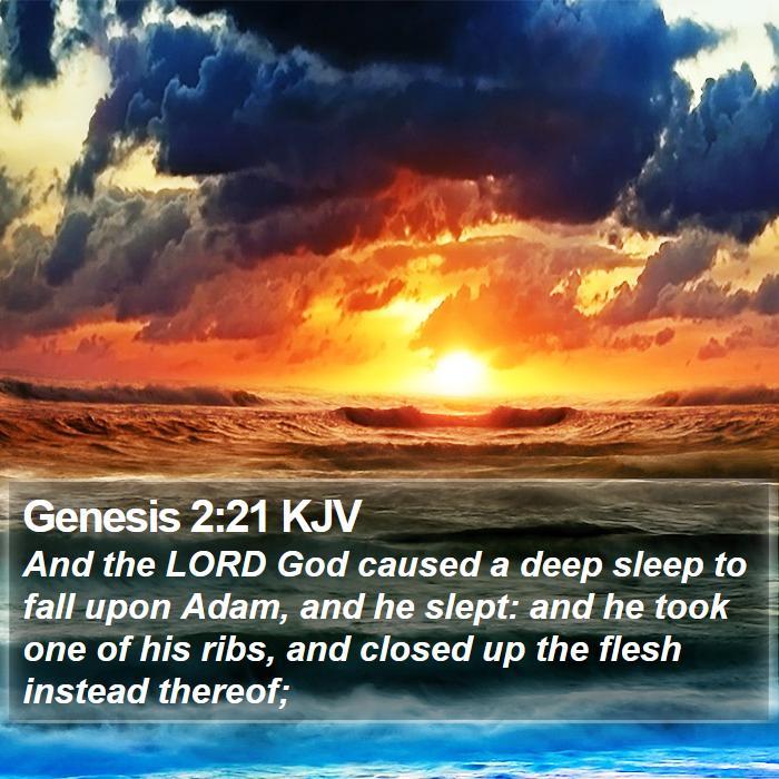Genesis 2:21 KJV - And the LORD God caused a deep sleep to ...