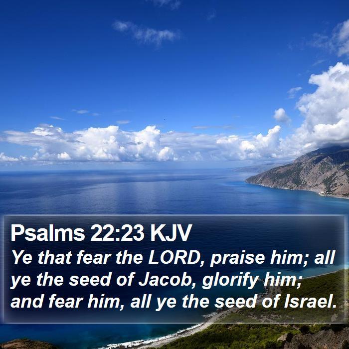 Psalms 22:23 KJV - Ye that fear the LORD, praise him; all ye the