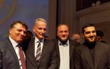 Agrigento Premio Karkinos 2018 Il Presidente del Premio Carmelo Cantone il questore Maurizio Auriemma il sociologo Francesco Pira e l'artista Daniele Magro
