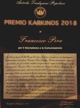 Agrigento Premio Karkinos 2018 La motivazione del Premio al Professor Francesco Pira