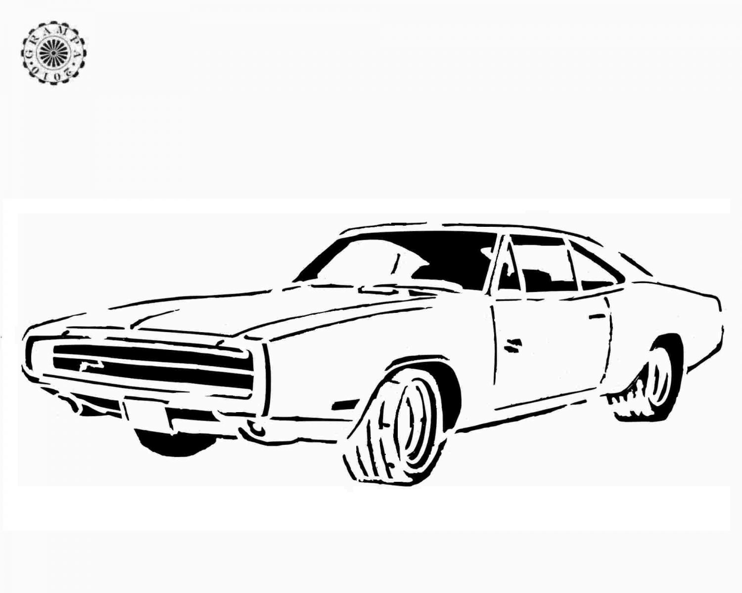 Dodge Charger Coloring Page Of Car Pictures