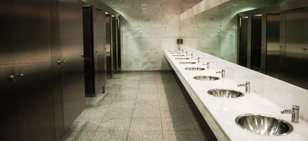 Clean Modern Commercial Restroom
