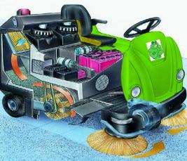 Modern rider scrubber