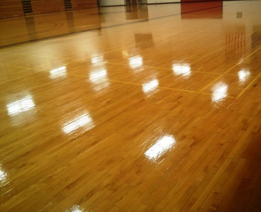 Minneapolis College Gym Wood Floor