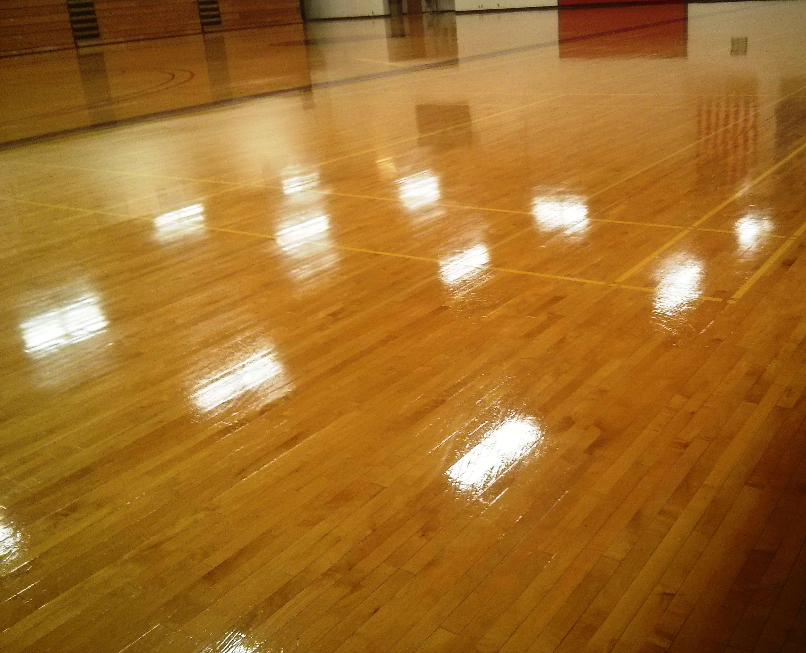 Minneapolis College Gym Wood Floor
