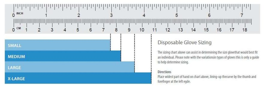 Disposable Glove Sizing Chart