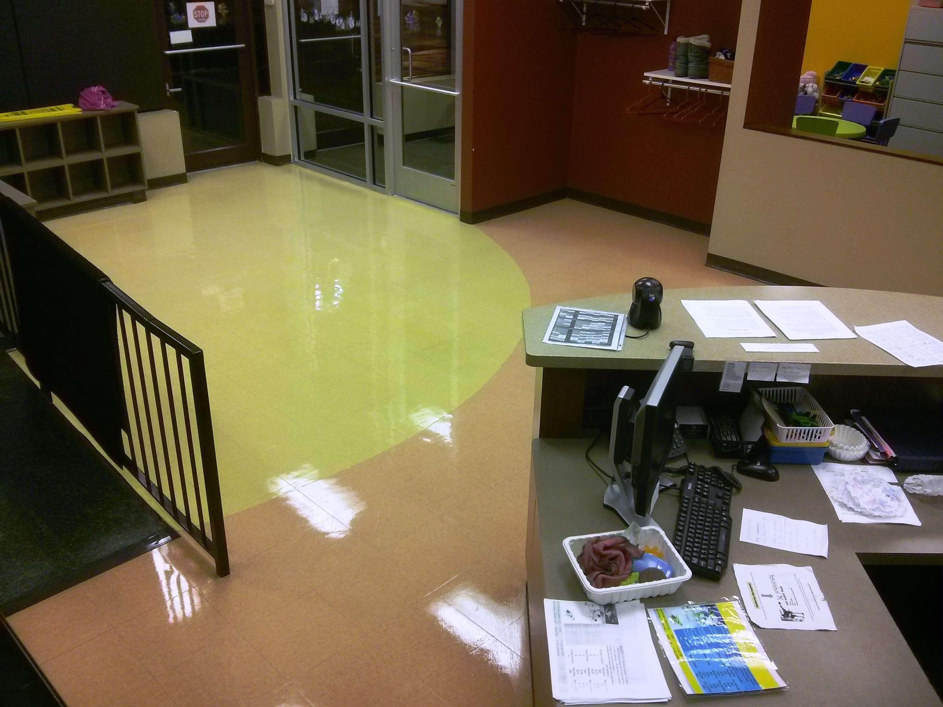 Child care center VCT Tile Floor Coating