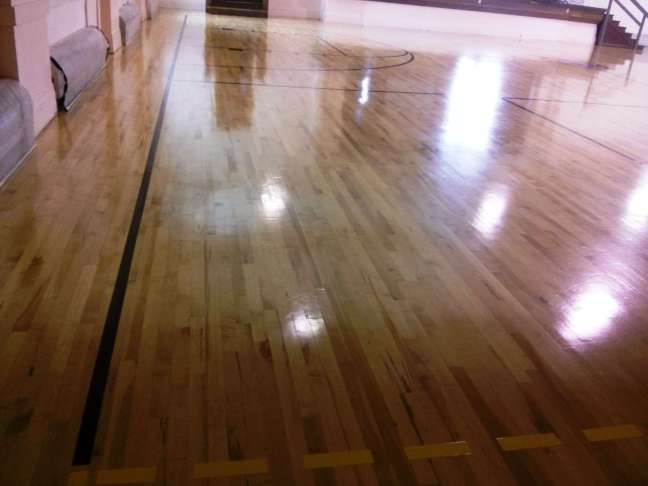 Deep Clean Hardwood Floors And Wood Gym Floor Finish In