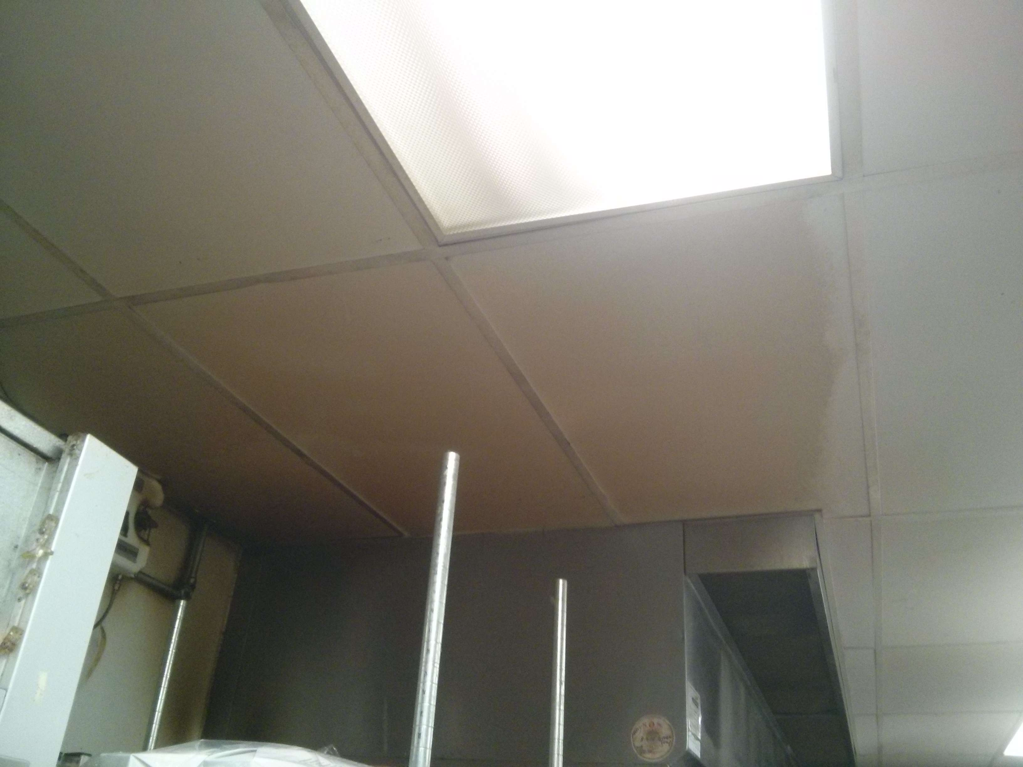 Minneapolis Restaurant Kitchen ceiling with grease build-up