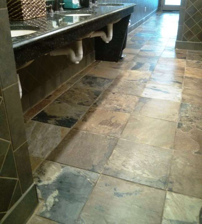 Slate flooring penetrating sealer