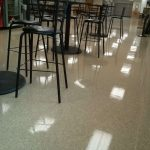 This VCT Tile Floor in New Brighton, MN Just Needed a Serious Burnishing to Restore its Gloss