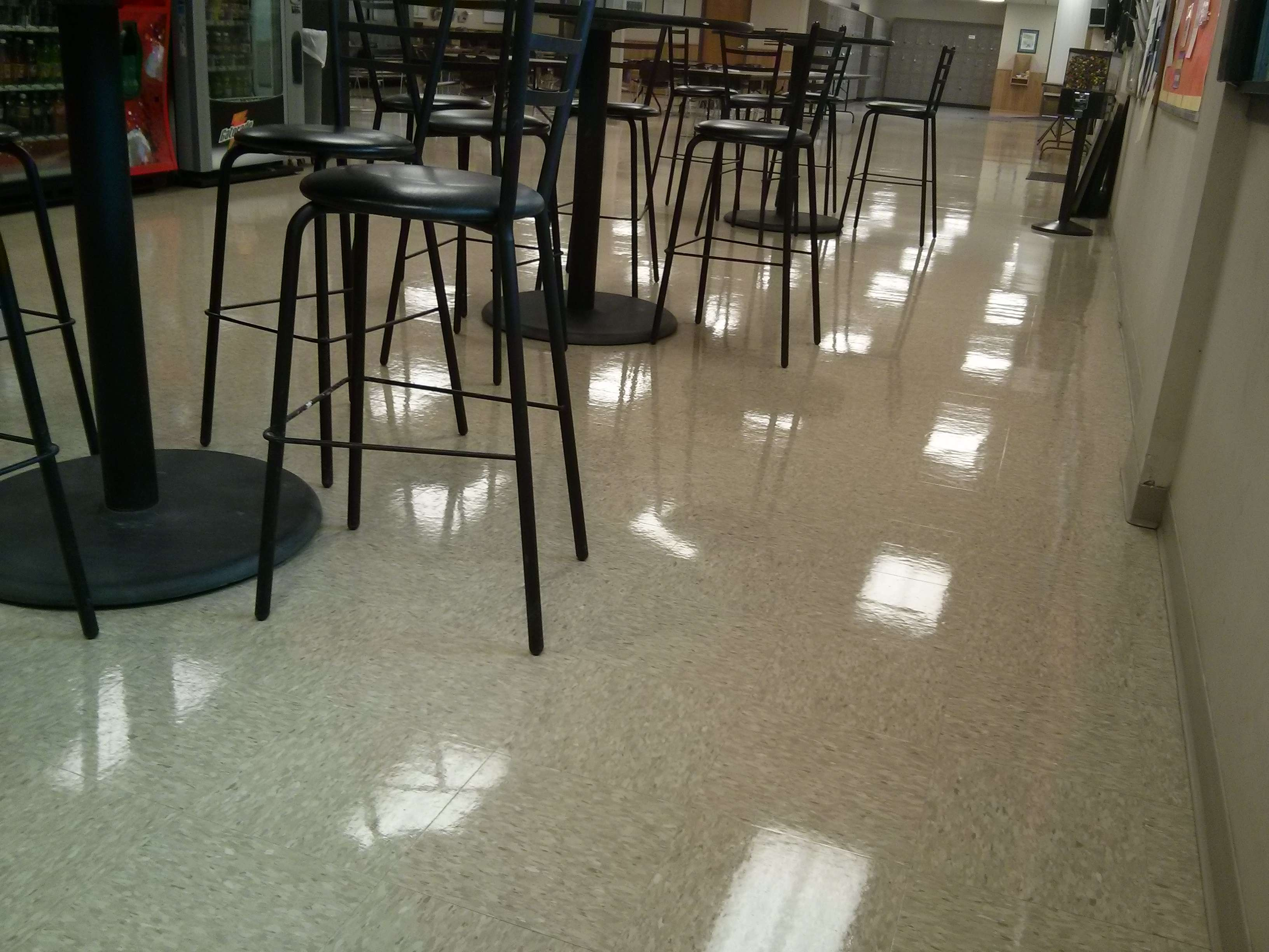 This VCT Tile Floor In New Brighton MN Just Needed A Serious - Restore tile floor shine