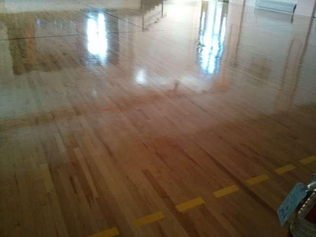 Wood gym floor coatings Twin Cities