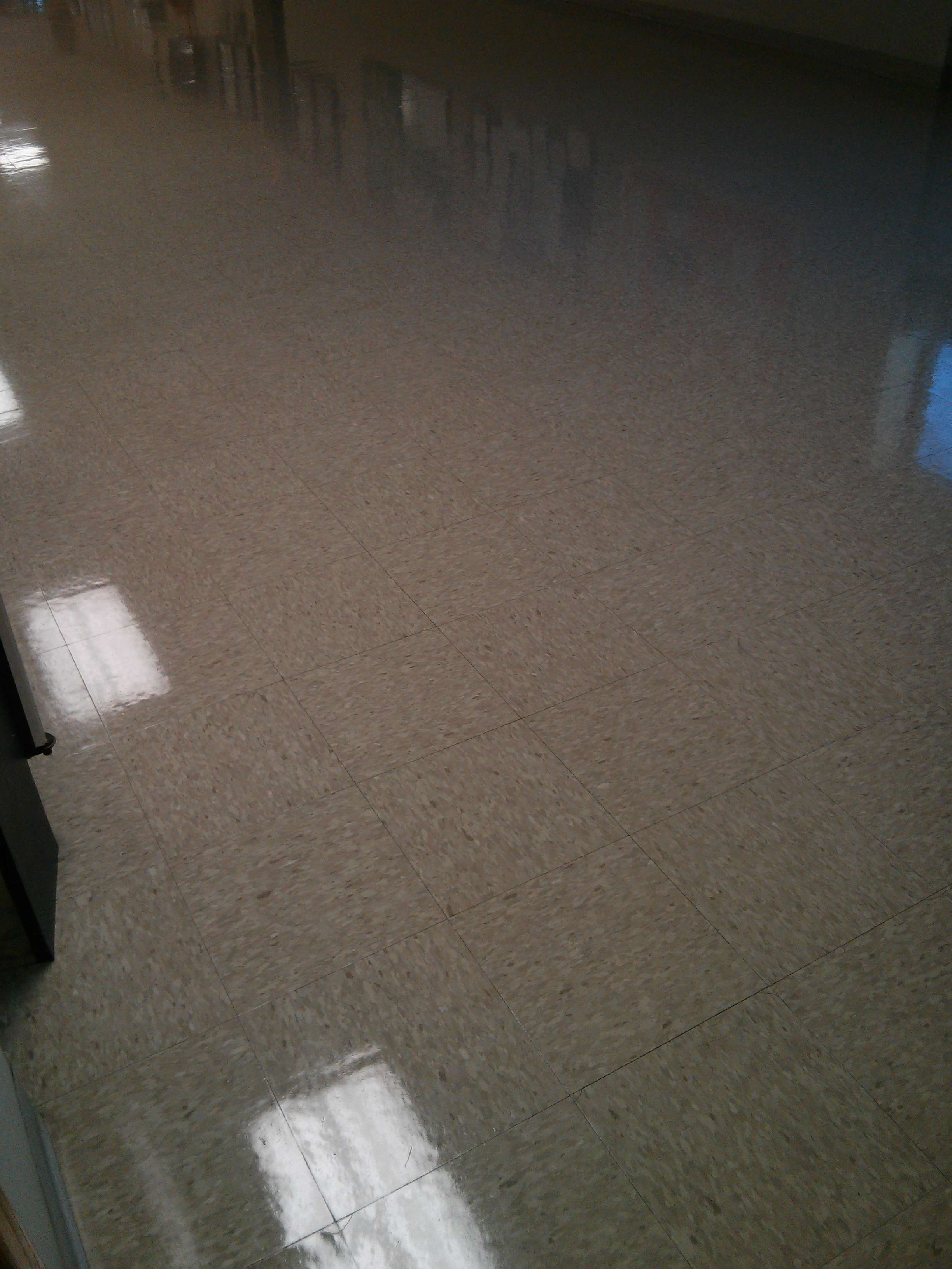 Old VCT Tile Floor Scrub and Clear Coat MN