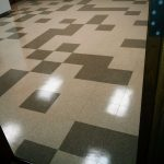 Old VCT Tile Floor Strip and