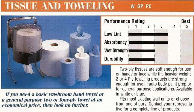 About Tissue and Toweling