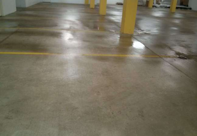 Parking Garage Concrete Floor Pressure Washing Twin Cities
