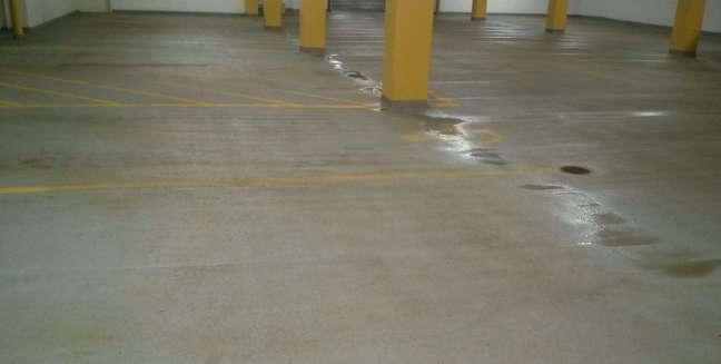 Parking Garage Concrete Floors Pressure Washing Minnesota