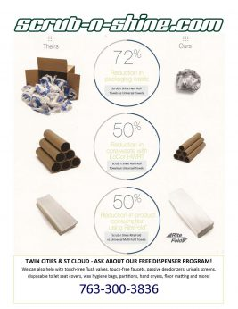 Reduce waste with Scrub n Shine RRF paper products