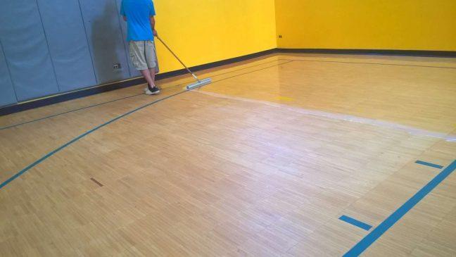 1 Part Urethane Acrylic Clear Finish For Wood Gym Floors MN