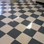 Old VCT Floor Restoration Job in Chanhassen