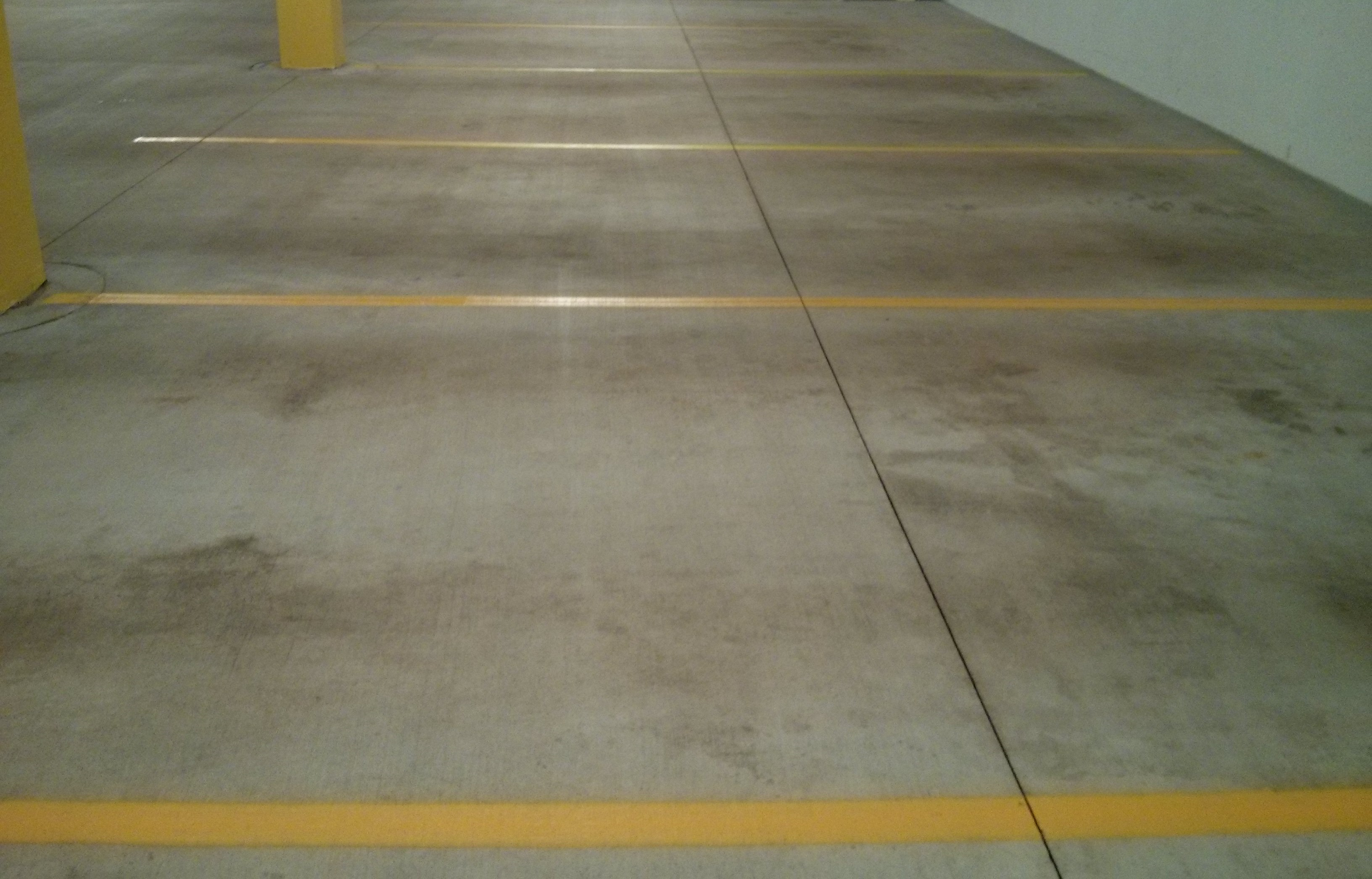 Parking Garage Floor Cleaning And Re Striping Job In Wayzata MN