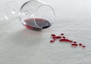 Red Wine Spill on Carpet