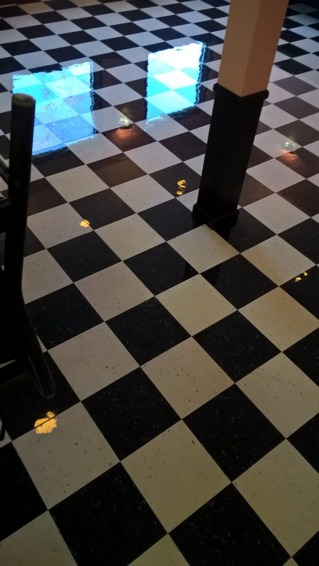 Restaurant VCT Floor High Gloss Clear Coatings in Minneapolis