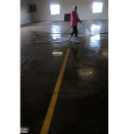 Parking Garage Pressure Wash and Floor Scrubbing Job in St Cloud MN
