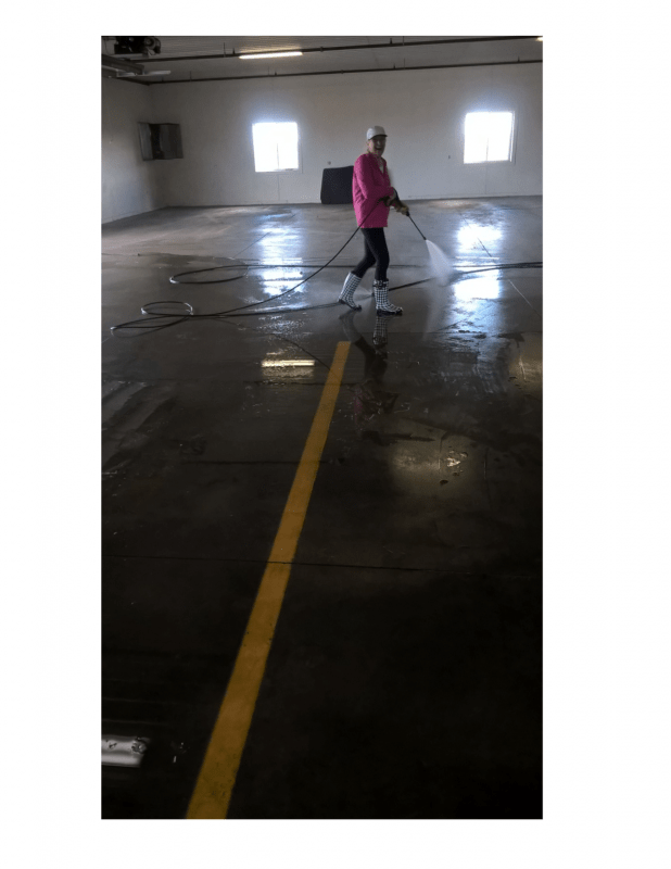 Parking Garage Floor Scrub and Pressure Washing in St Cloud MN