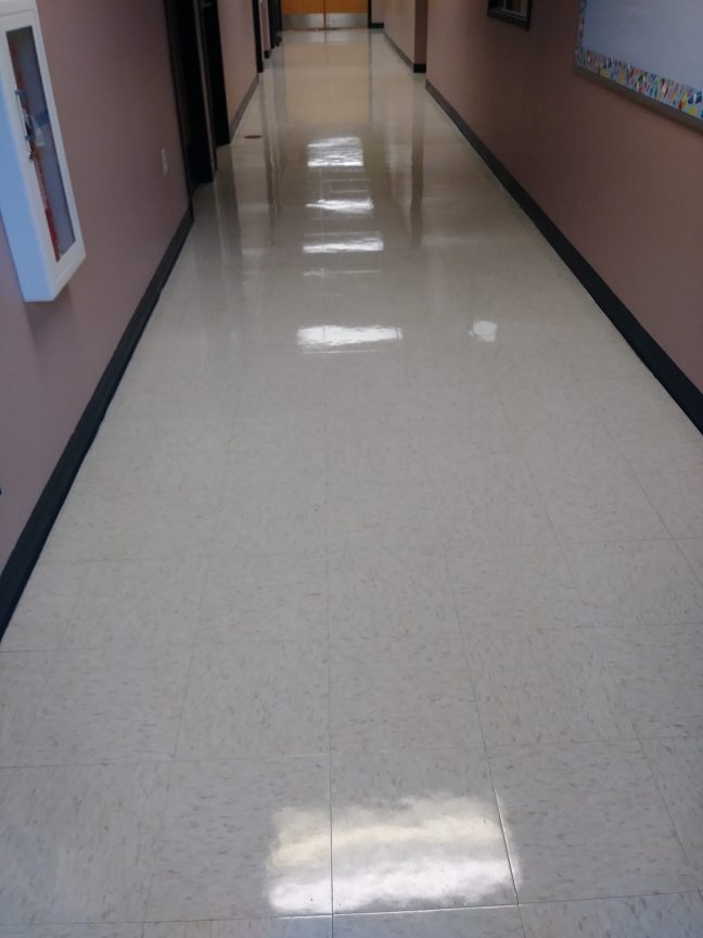 VCT Floor Acrylic Coatings Job in Daycare