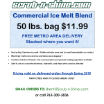 2017-2018 Commercial Blend Ice Melt $11.99 for 50 lbs. Bag with FREE METRO DELIVERY!