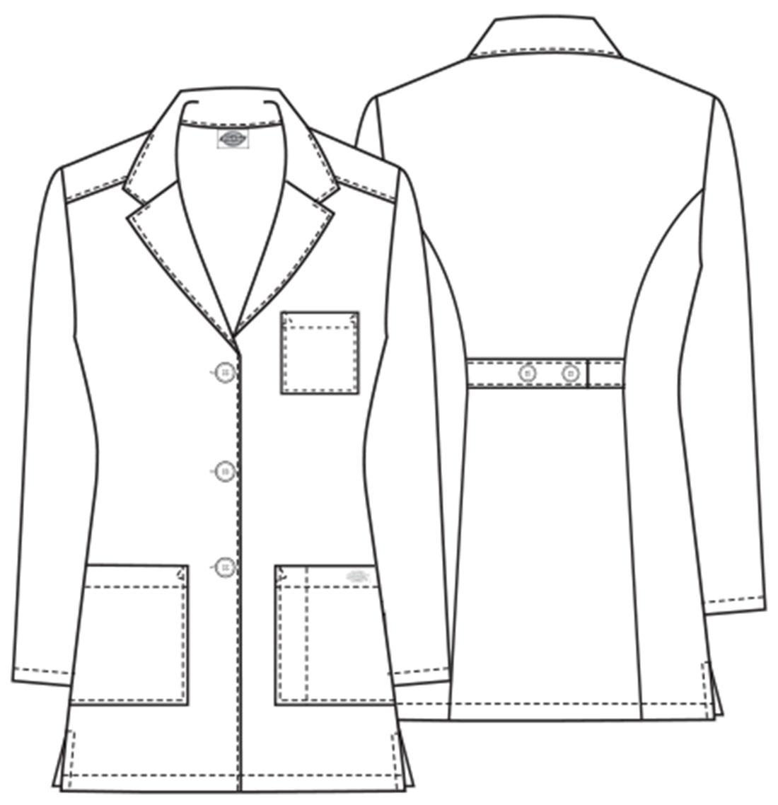 Dickies 32 Women S 3 Pocket Basic Lab Coat Scrubs Direct