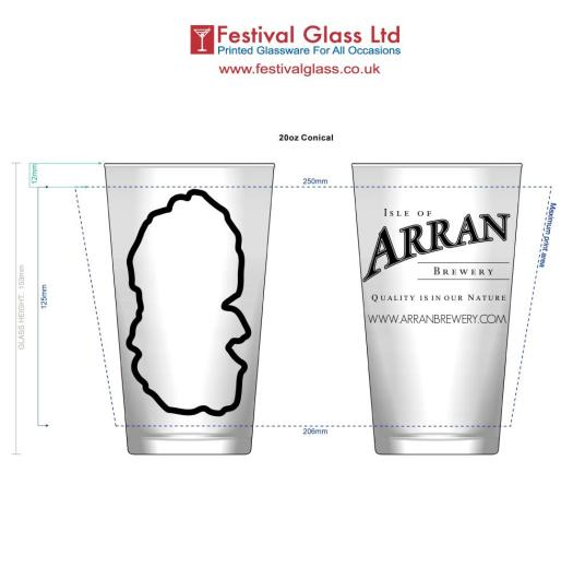 Arran Brewery Glass