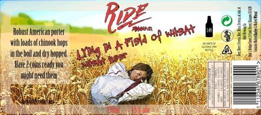 Lying in a field of wheat