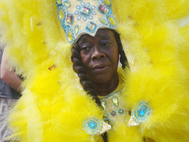 Elderly Mardi Gras Indian