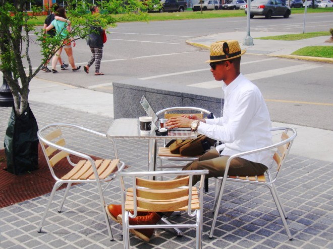 A Fancy Lad Relaxes At St Roch Market