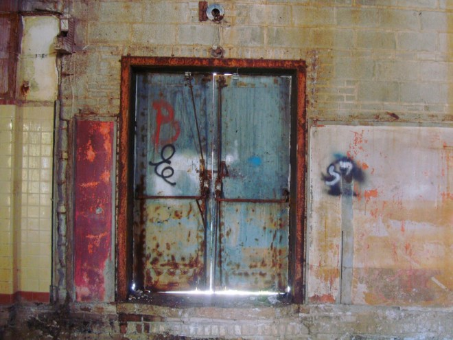 Old Steel Doors Of Gem Theater