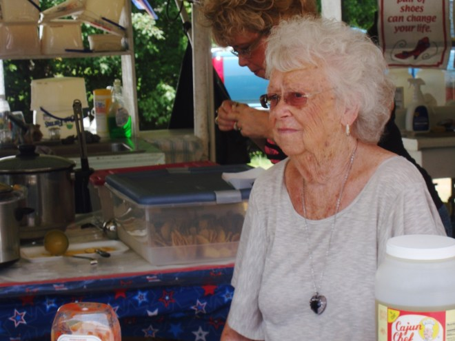 An Elderly Vendor At The Louisiana Catfish Festival
