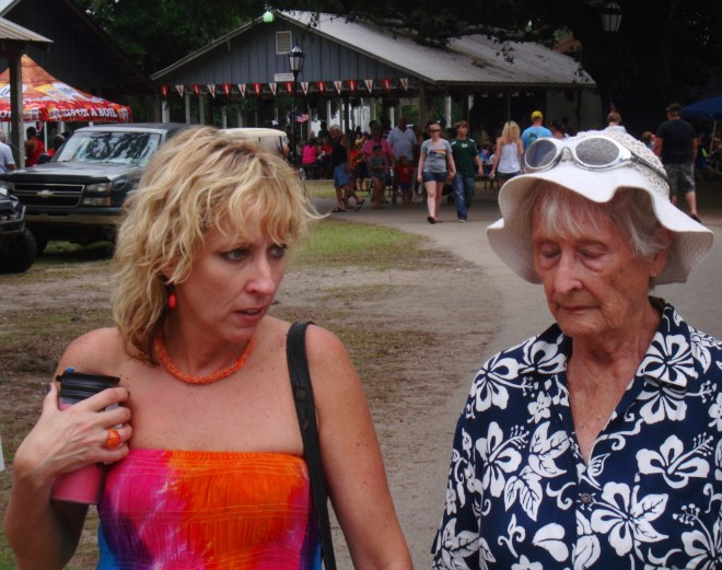 Patrons At The 2015 Our Lady Of The Gulf Crab Festival