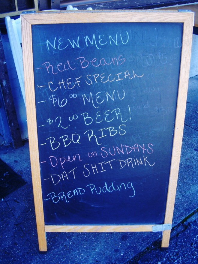 Menu Board At Heard Dat Kitchen