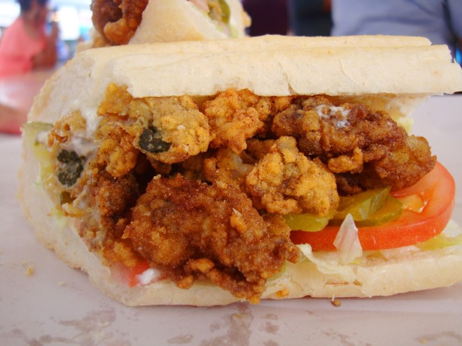 Oyster Po Boy At 2016 Oyster Festival In Violet