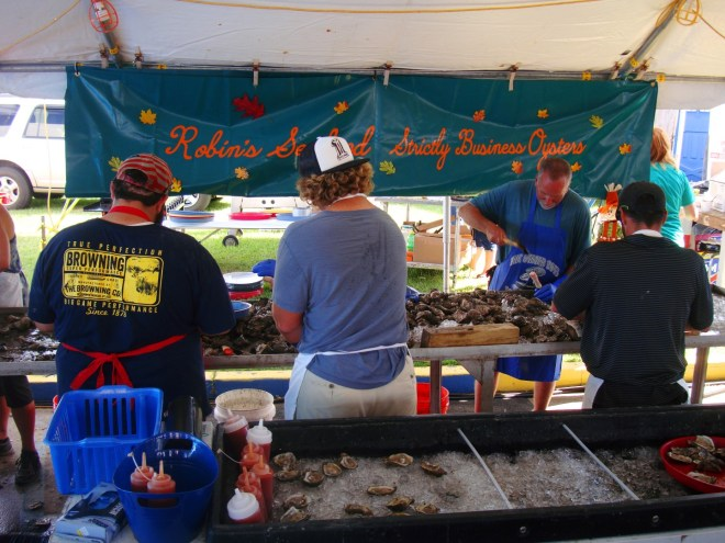 Oyster Shuckers In Violet Louisiana